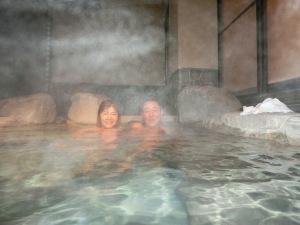箱根で温泉を楽しむ