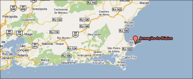 リオ・デ・ジャネイロから170キロにあるブジオス
